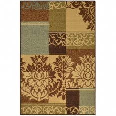 Ottomanson Ottohome Collection Contemporary Damask Design Beige 8 ft. 2 in. x 9 ft. 10 in. Area Rug-OTH2292-8x10 - The Home Depot