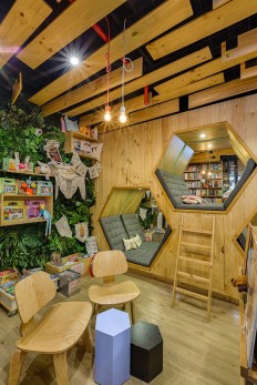 9 3/4 BOOKSTORE CAFÉ / Diseño interior on