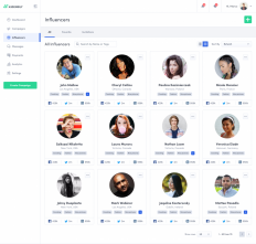 Influencers Page by Mateusz Dembek on Inspirationde