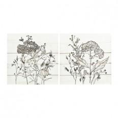 Pen and Ink Florals Canvas Art Prints   Kirklands