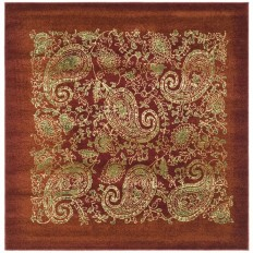 Shop Safavieh Lyndhurst Paisley Life Red/Multi Square Indoor Machine-made Area Rug (Common: 8 x 8; Actual: 8-ft W x 8-ft L) at Lowes.com