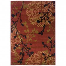Legacy Dappled Red 7 ft. 8 in. x 10 ft. 10 in. Area Rug-314911 - The Home Depot