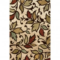 Shop Orian Rugs Vine Beige Rectangular Indoor Machine-made Nature Throw Rug (Common: 4 x 6; Actual: 3.92-ft W x 5.42-ft L) at Lowes.com