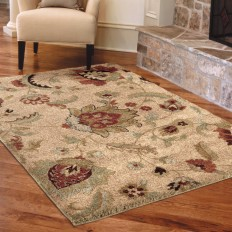 Shop allen + roth Cliffony Cream Rectangular Indoor Machine-Made Area Rug (Common: 4 x 6; Actual: 3.92-ft W x 5.42-ft L x 0-ft Dia) at Lowes.com