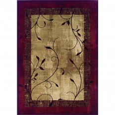 Shop allen + roth Tinsley Red Rectangular Indoor Machine-Made Nature Area Rug (Common: 8 x 10; Actual: 7.67-ft W x 10.83-ft L) at Lowes.com