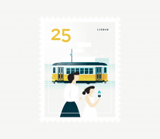 Stamp : Cities on