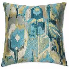 Exotic Square Throw Pillow in Turquoise - Bed Bath & Beyond