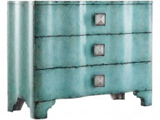 Hooker Furniture Living Room Melange Turquoise Crackle Chest 638-85016