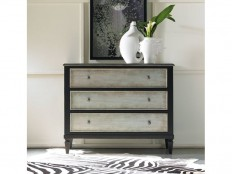 Hooker Furniture Living Room Two Tone Aluminum Wrap & Black Three Drawer Chest 5051-85122