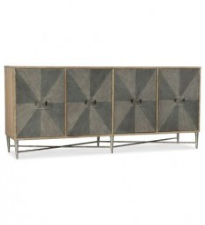 Hooker Furniture Living Room Melange Zola Four-Door Credenza 638-85316-LTGY