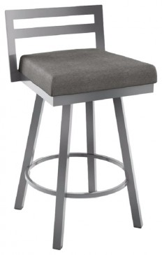 Shop Houzz | Amisco Derek Swivel Counter Stool, Glossy Gray - Bar Stools And Counter Stools