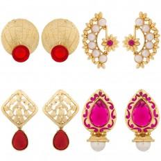 Earrings Combo By Luxor Jewellery | Jewellery Combos - HomeShop18