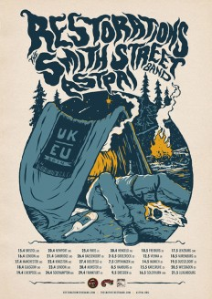 Restorations, The Smith Street Band, Astpai tour poster on Inspirationde