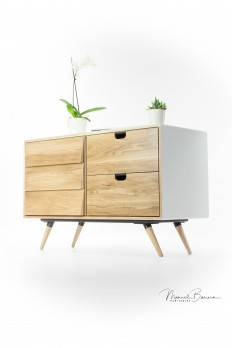 White and Oak little sideboard on
