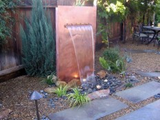 How to Build a Copper Water Wall | how-tos | DIY
