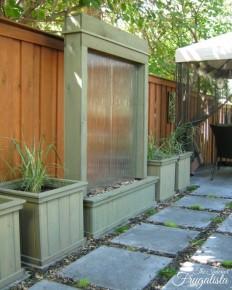 DIY Patio Water Wall | The Interior Frugalista: DIY Patio Water Wall