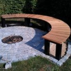 How to build a fireplace with bench | DIY projects for everyone!