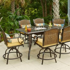 Hampton Bay Vichy Springs 7-Piece Patio High Dining Set-FRS80589AH-ST - The Home Depot