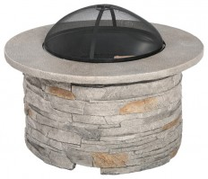 Cordary Outdoor Cement Fire Pit - Rustic - Fire Pits - by GDFStudio