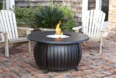 Extruded Aluminum Round LPG Fire Pit - Transitional - Fire Pits - by Silkhan