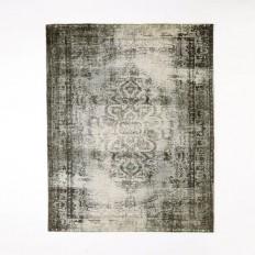 Distressed Arabesque Wool Rug - Steel | west elm