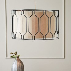 Metal Honeycomb Drum Pendant | west elm