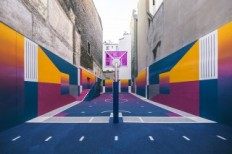 Pigalle's Basketball Court Takes Over Paris in a Colorful Way
