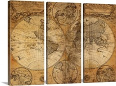 Vintage Map Wall Art, Canvas Prints, Framed Prints, Wall Peels | Great Big Canvas
