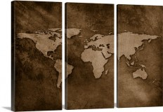 World map on textured background Wall Art, Canvas Prints, Framed Prints, Wall Peels | Great Big Canvas
