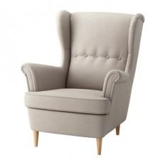 STRANDMON Wing chair - Skiftebo light beige - IKEA
