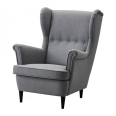 STRANDMON Wing chair - Nordvalla dark gray - IKEA
