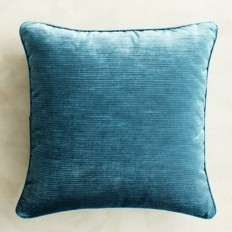 Luxe Velvet Striped Teal Pillow