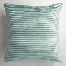 Pleated Velvet Mineral Blue Pillow | Pier 1 Imports