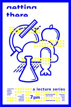 Science Lecture Poster and Icon Design on Inspirationde