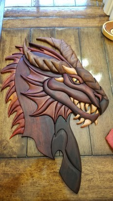 Dragon made from solid wood - Imgur