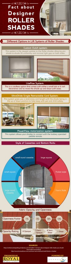 Different lift System Options in Roller Shades [Infographic] - Royal Window Treatments