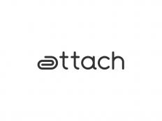 Attach Logo Design by Paulius Kairevicius on Inspirationde