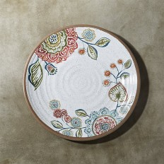 "Caprice 10.5"" Botanical Melamine Dinner Plate | Crate and Barrel"
