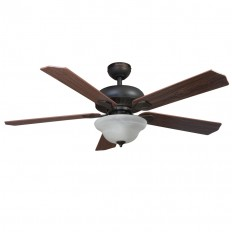 Shop Harbor Breeze Crosswinds 52-in Oil rubbed bronze Indoor Downrod Or Close Mount Ceiling Fan with Light Kit and Remote at Lowes.com
