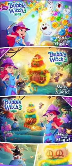 Bubble Witch 3 saga – Launch Campaign on Inspirationde