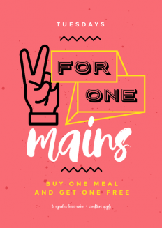 2 for One Main Meals Food Specials on Inspirationde