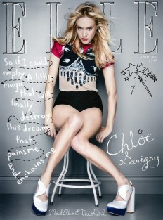 Elle magazine cover typography on Inspirationde