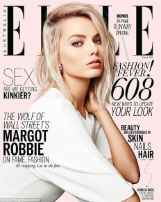 Margot stars on the cover of Elle Australia's March issue on Inspirationde