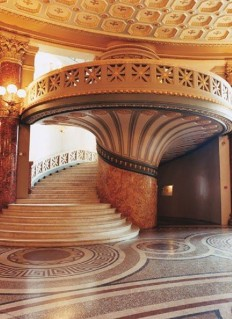 The neoclassic Romanian Atheneum, constructed in 1888 by French architect Albert Galleron on Inspirationde