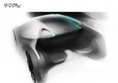 Jaguar Future Type Concept Design Sketch - Car Body Design