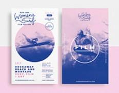 New York Women's Surf Film Festival Branding on