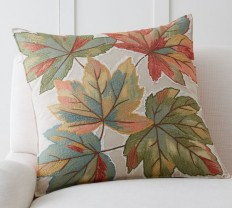 Oversized Leaf Applique Pillow Cover | Pottery Barn