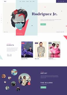 Music Landing Page by Giga Tamarashvili on Inspirationde