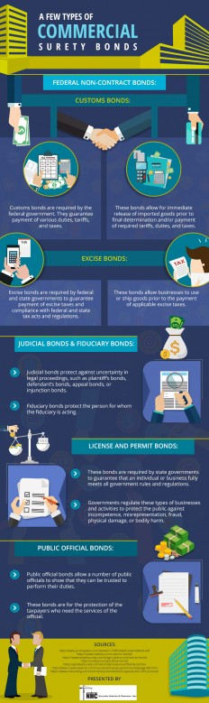 Infographic : An Insight into Different Types of Commercial Surety Bonds
