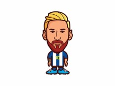 Lionel Messi Vector File - VECTOR ELEMENTS - Cartoon : LogoWik.com